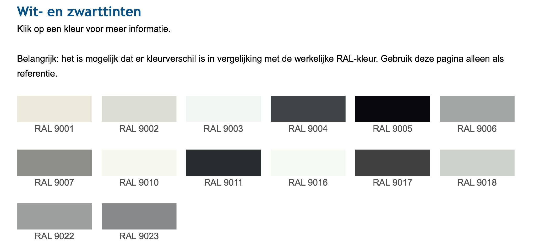 Ral Kleurenkaart Voor Schilderwerk Comfort Schilder En